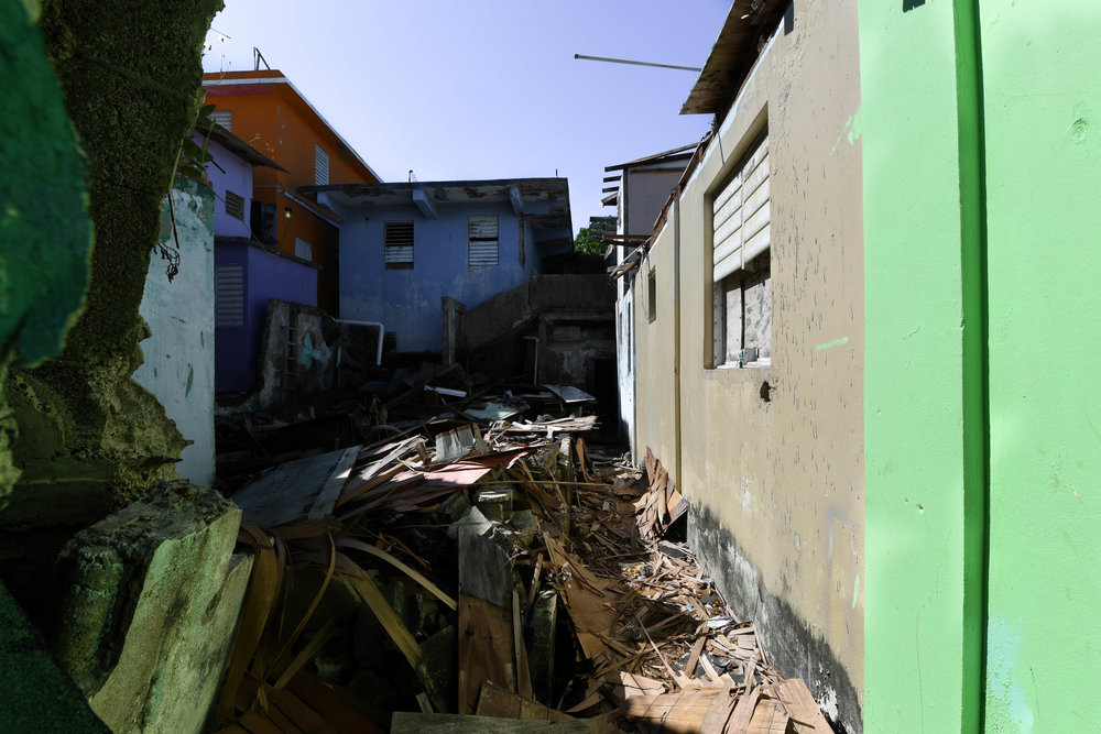 A once busy town, La Perla now sits vacant and still. Locals have started a hashtag, #yonomequito, in an attempt to remind the youth that Puerto Rico is their home. After the hurricane, the majority of the younger generation moved to the mainland, leaving towns like La Perla behind.