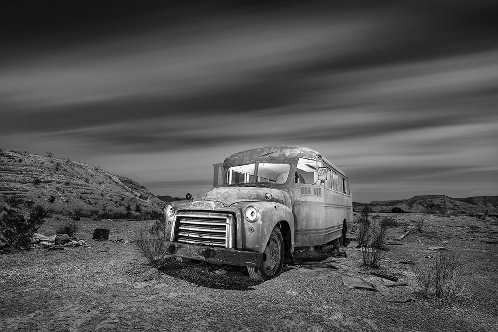 Old Bus In Terlingua,Tx.