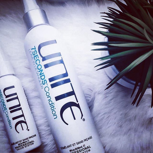 We are now proudly carrying Unite Products @chromaticedgesalon!  Spend $50 or more in Services this week and save $5. We have both large and travel size 7 second leave in conditioners! This is our top seller and a must have!  #sanantoniohairstylist #sanantoniosalon #sanantoniohair #sanantoniounite #unite #unitefamily