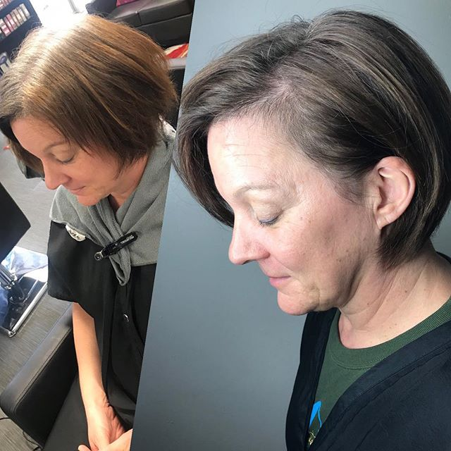 A little correction for @hair_by_charli's client. Client wanted her gray to grow out better and eliminate the warmer tones in between with out fully bleaching her whole hair. Thanks you @olaplex for protecting our clients hair and @hair_byginama for tag teaming this correction👍🏼 #sanantoniohairstylist #sanantoniosalon #sanantoniohair #olaplex #goldwellapprovedus #sanantoniocolorcorrection