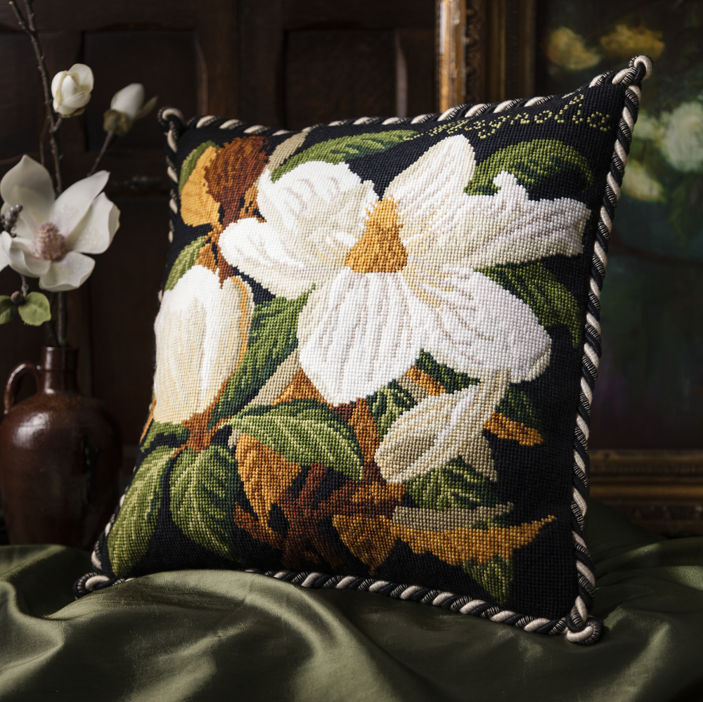 Magnolia Black Cushion - Evergreen.jpg