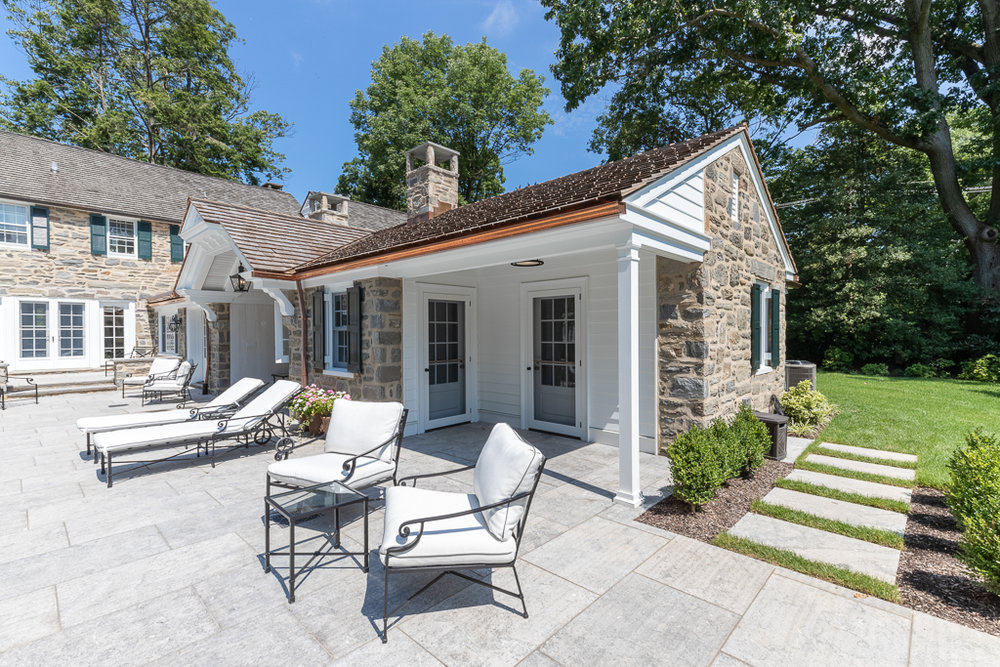 Pool House Addition On 100-Year-Old Home