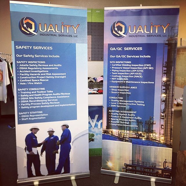 We make banner displays for trade shows, design and print. #banner #tradeshow #leaguecity #graphics