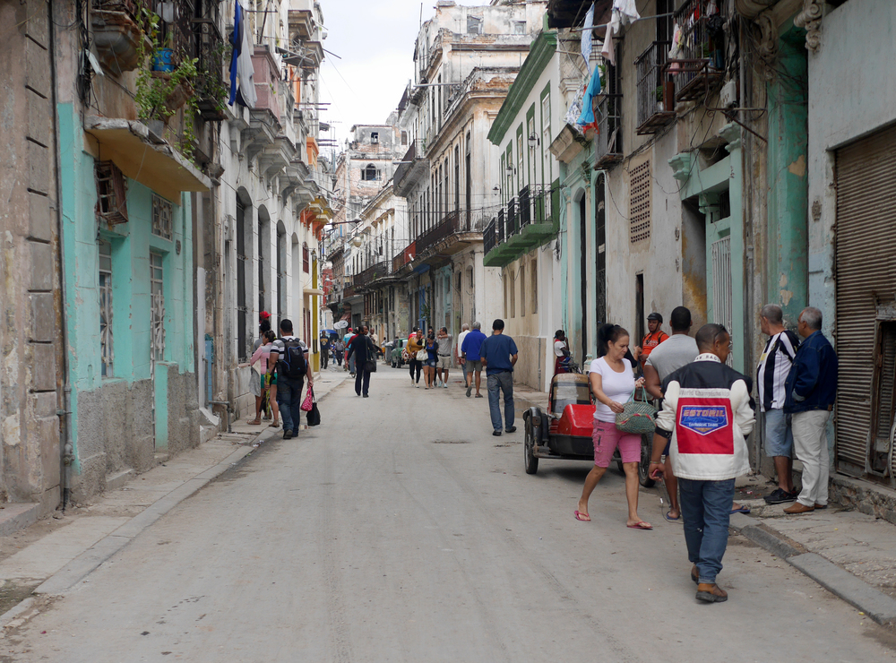 Old Havana neighborhood street.