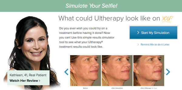 Click on the image above to be taken to Ultherapy's Selfie-Simulator