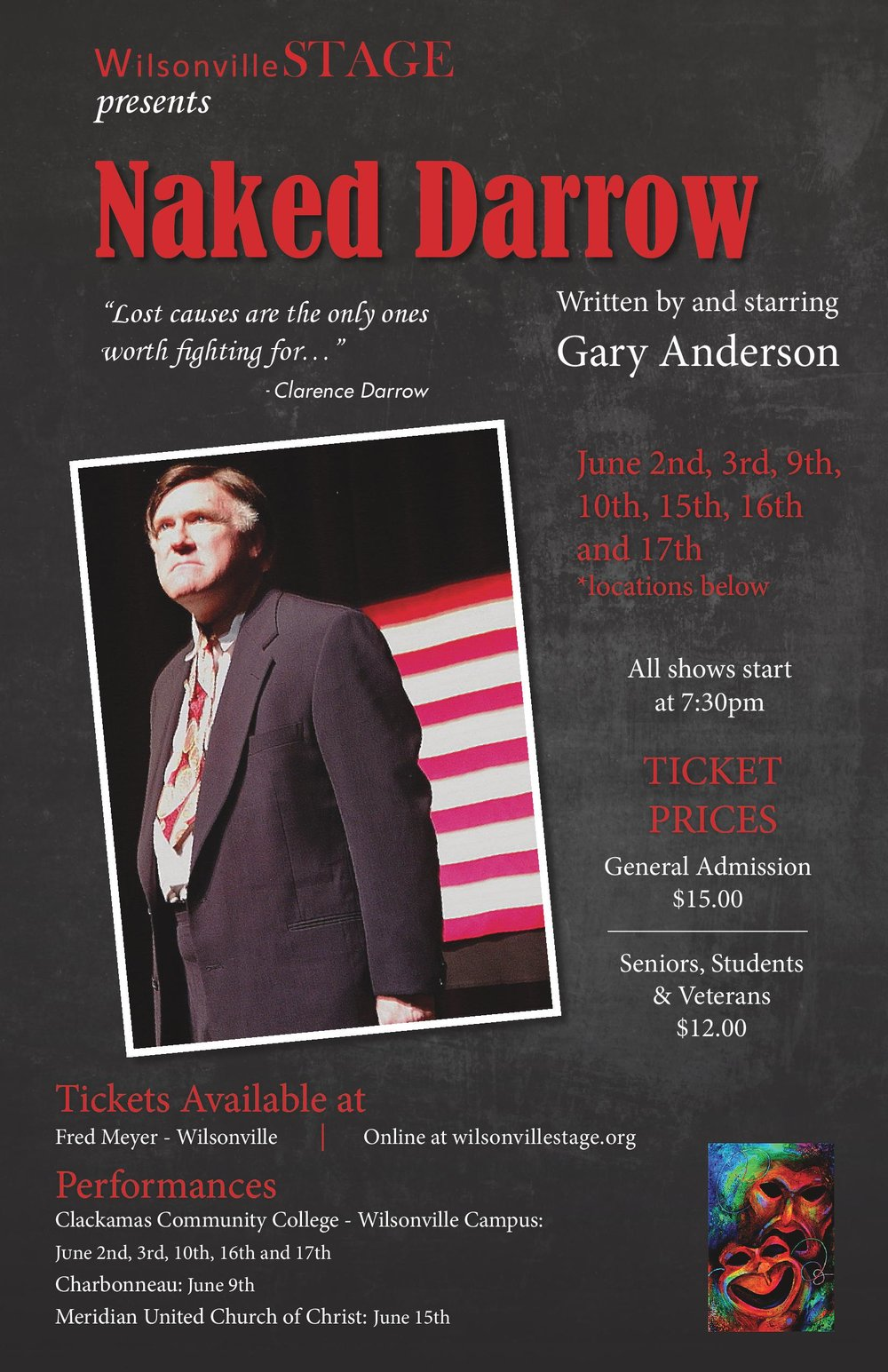 Naked Darrow - Written and Starring Gary Anderson