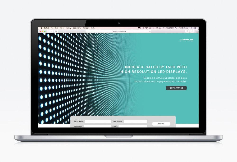 Cirrus LED - Landing Page & Social Design