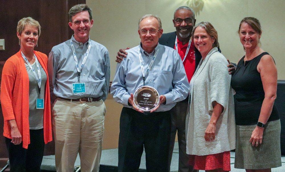 ATA board members receiving the 2019 NC CTA award of the year.