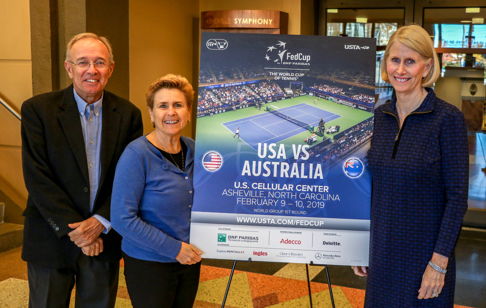 Jeff Joyce-ATA President, Kelly Gaines-Executive Director of USTA-NC, Bonnie Vandegrift-President of the Southern Tennis Association. -