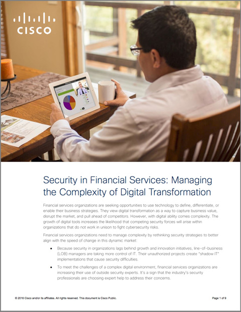 Cisco Financial Services Paper