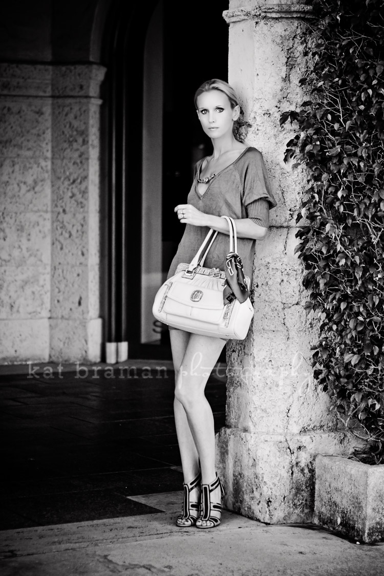 Babette Brown with Belisi Luxury Handbag