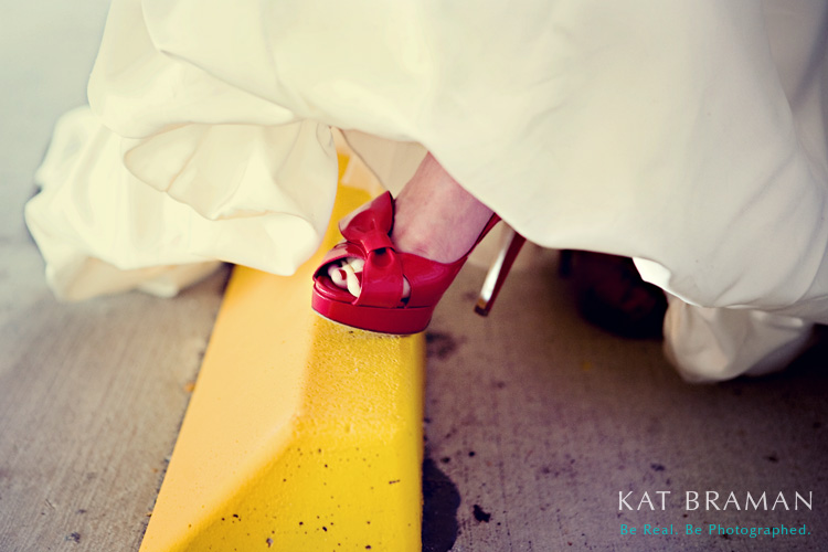 Red Wedding Shoes - Wedding Photographer Kat Braman