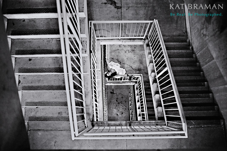 Staircase Bridal - Delray Beach Wedding Portrait