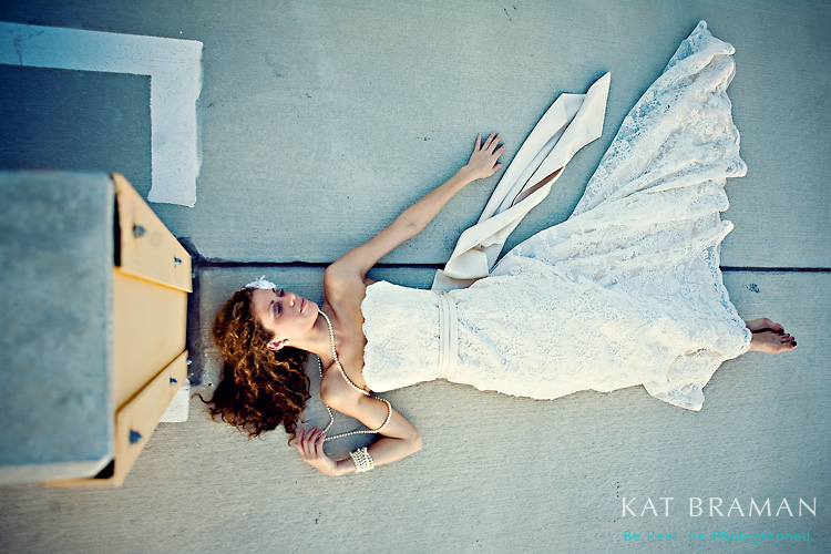 Emily - Unusual Bridal Portrait - Kat Braman Photography