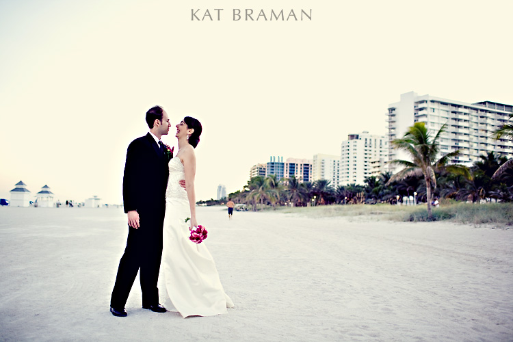 Bride & Groom Beach Photos at South Florida Wedding