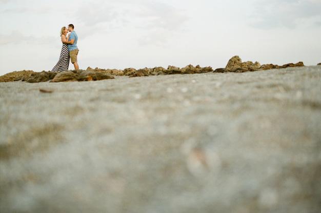 Engagement photo at beach on Jupiter Island