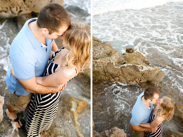 Couple at Coral Cove Park Engagement