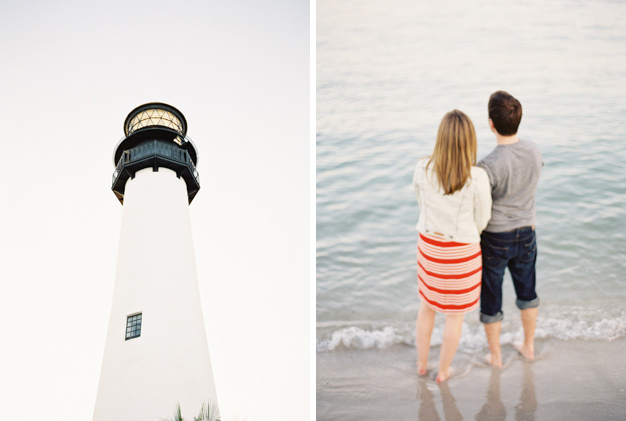 Key Biscayne Lighthouse engagement by Kat Braman