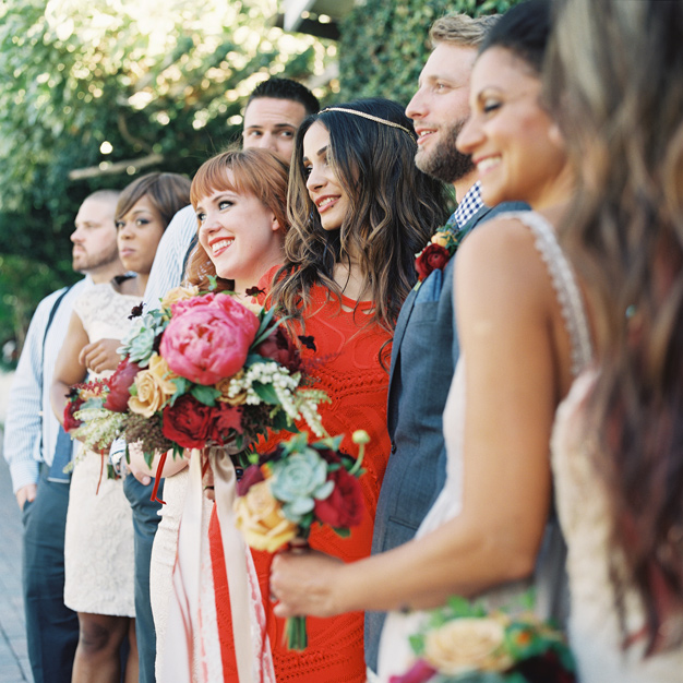 Boho Wedding Party at the Sundy House