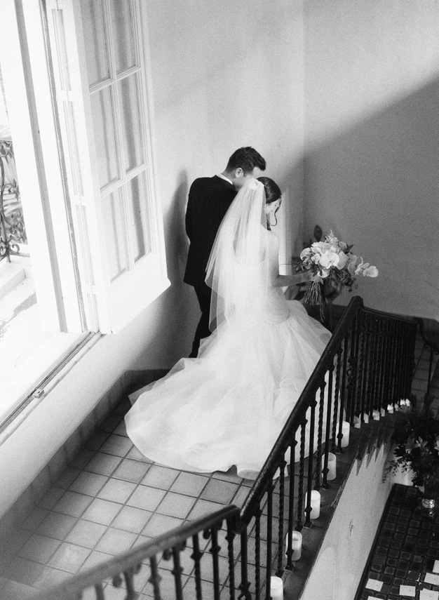 Bride and Groom at Villa Woodbine - photo by Kat Braman