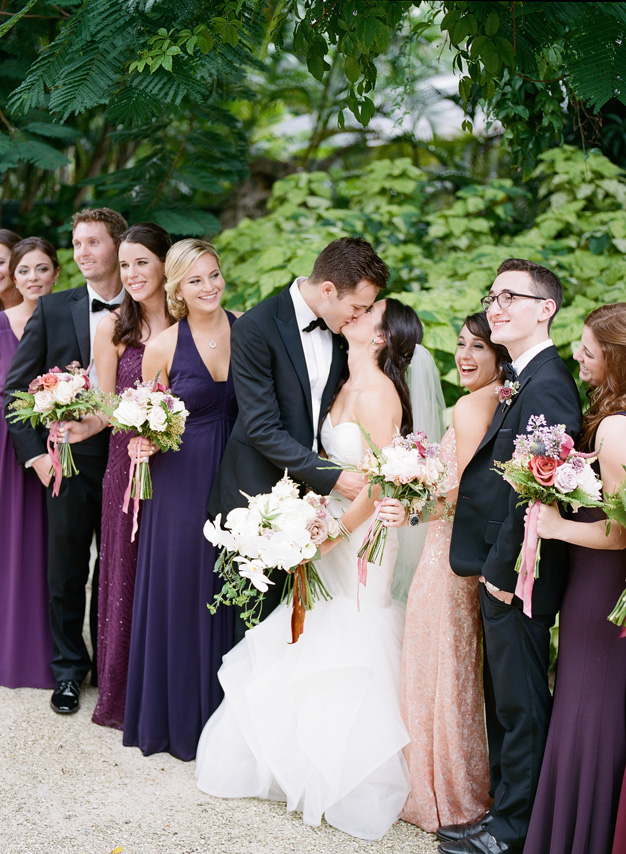 Wedding party at Villa Woodbine in Miami - photo by Kat Braman