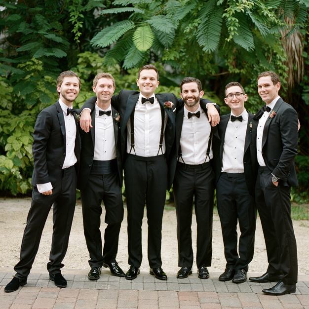 Groomsmen at Villa Woodbine in Miami - photo by Kat Braman