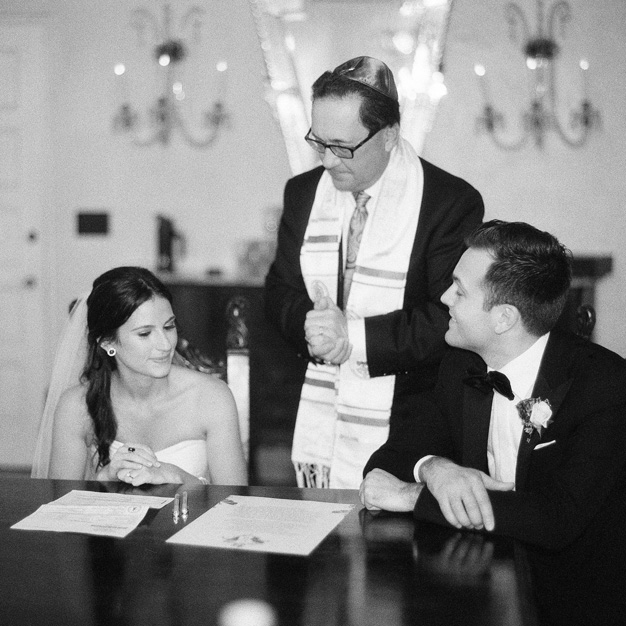 Ketubah signing at Villa Woodbine - photo by Kat Braman
