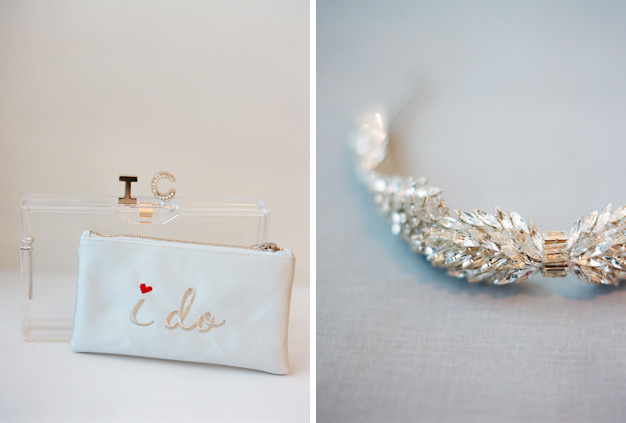Charlotte Olympia Wedding Clutch - photo by Kat Braman