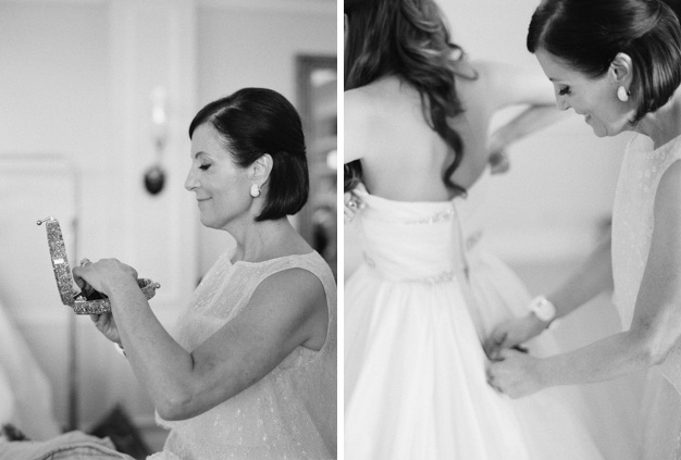 Bride getting ready for Flagler Museum Wedding - photo by Kat Braman