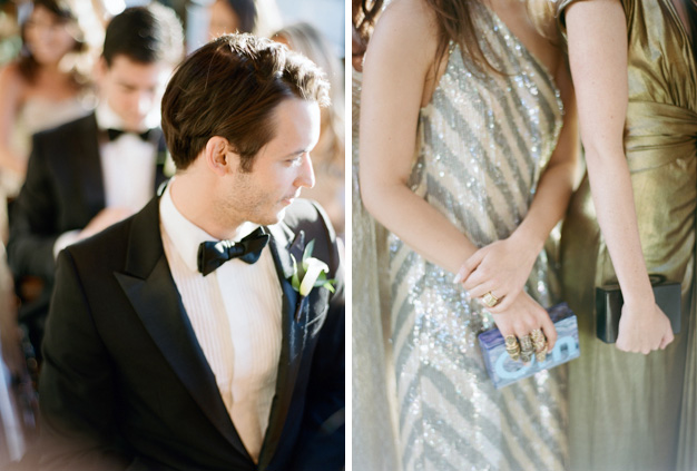 Wedding Party in Jenny Packham Metallics in Palm Beach - Photo by Kat Braman