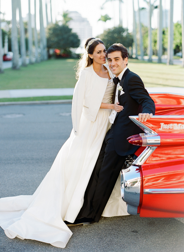 Isabel Solmonson and Elliot Cohen at Palm Beach Wedding - photo by Kat Braman