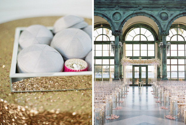 Jewish Wedding at Flagler Museum's Train Room in Palm Beach - photo by Kat Braman