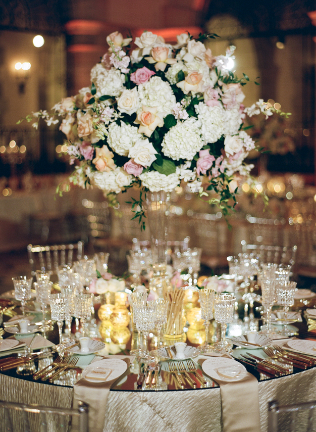 Gold and Cream Flagler Museum Wedding Reception - photo by Kat Braman