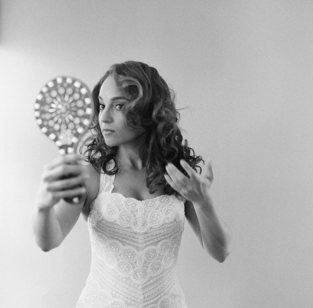 Bride Getting Ready for Miami Wedding - Photo by Kat Braman