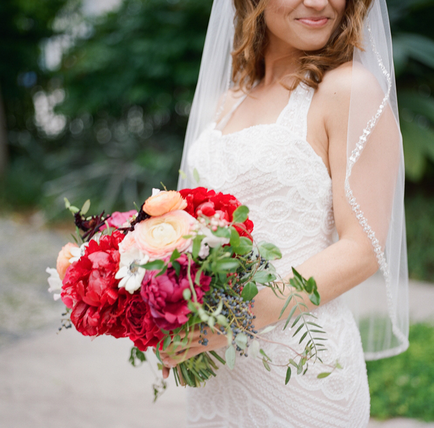 Julia Rhode Bridal Bouquet at Miami Beach Wedding - photo by Kat Braman