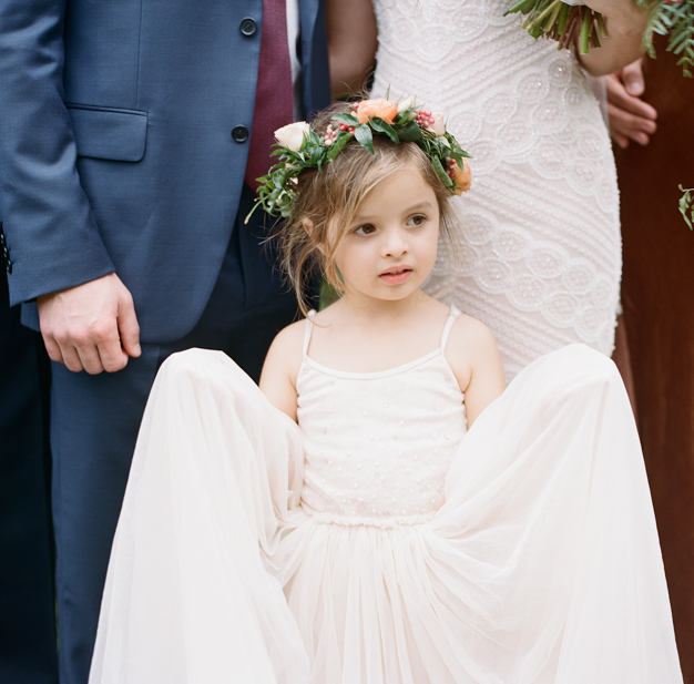 Flower Girl with Flower Crown by Julia Rhode - photo by Kat Braman