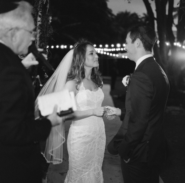 Jewish Wedding at Miami Beach Botanical Gardens - photo by Kat Braman