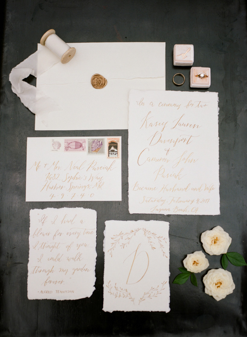 Custom Calligraphy Invitation Suite by Julia Rohde Designs - photo by Kat Braman