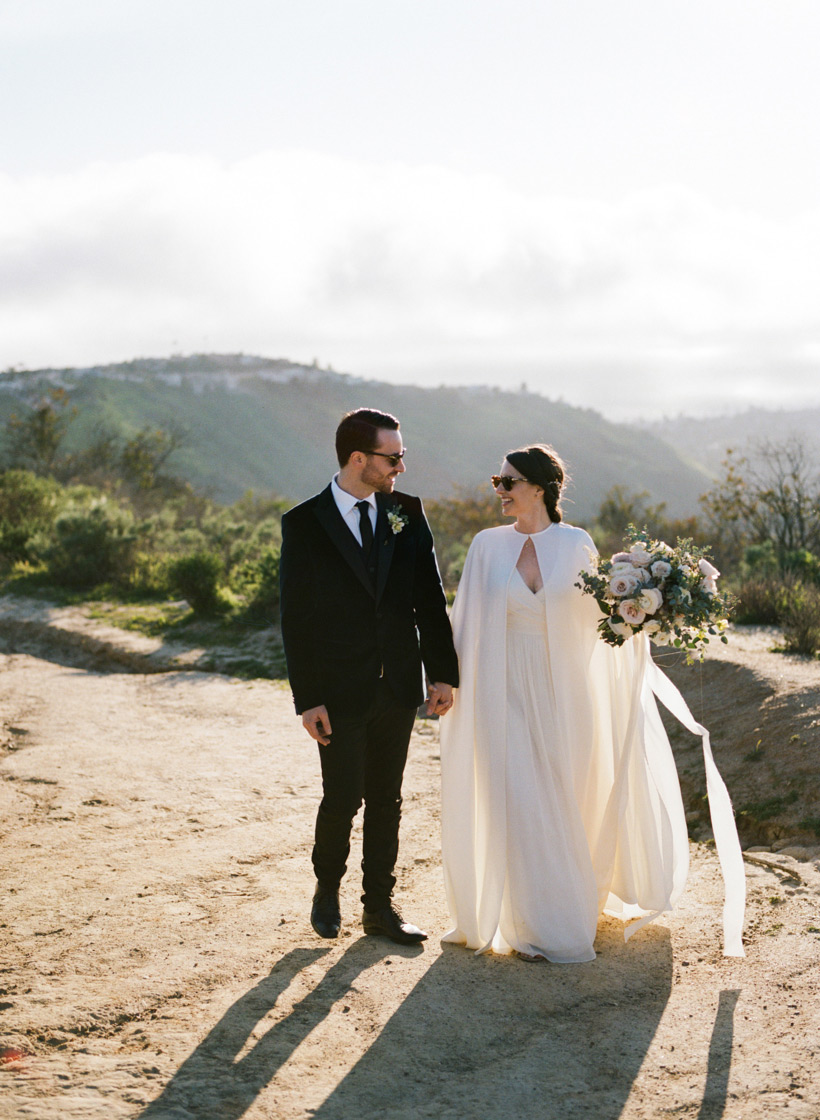 Private Elopement Ceremony at Top of the World Park in Laguna Beach - photo by Kat Braman