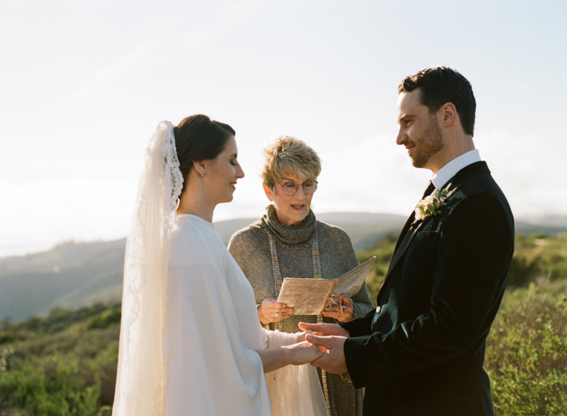 Mountaintop Elopement in Laguna Beach, CA - photo by Kat Braman