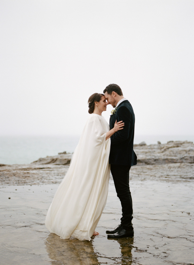 Wedding Day Portraits at Table Top Rock in Laguna Beach - photo by Kat Braman