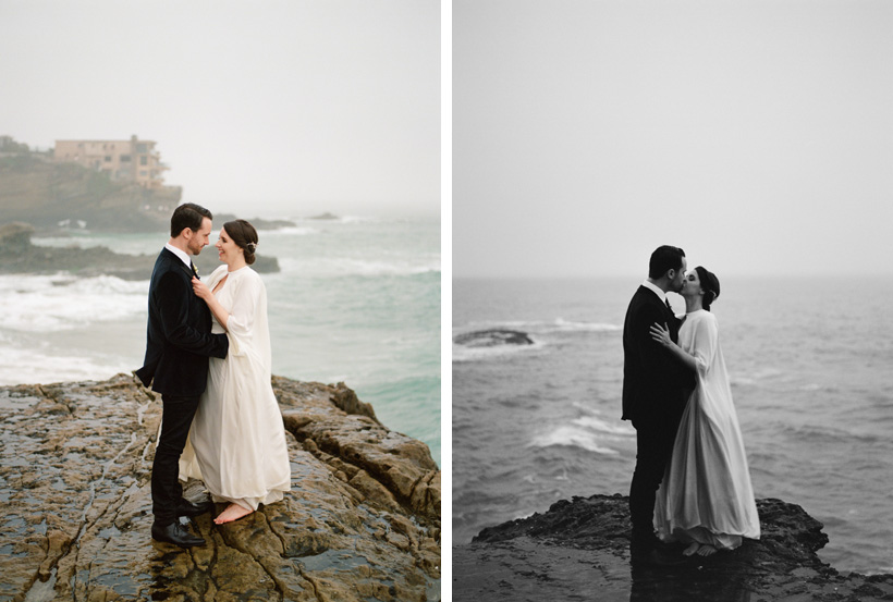 Elopement Portraits at Table Top Rock in Laguna Beach - photos by Kat Braman