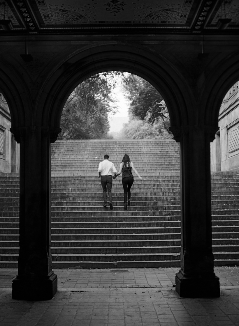 Bethesda Fountain Engagement Session in NYC - Photo by Kat Braman