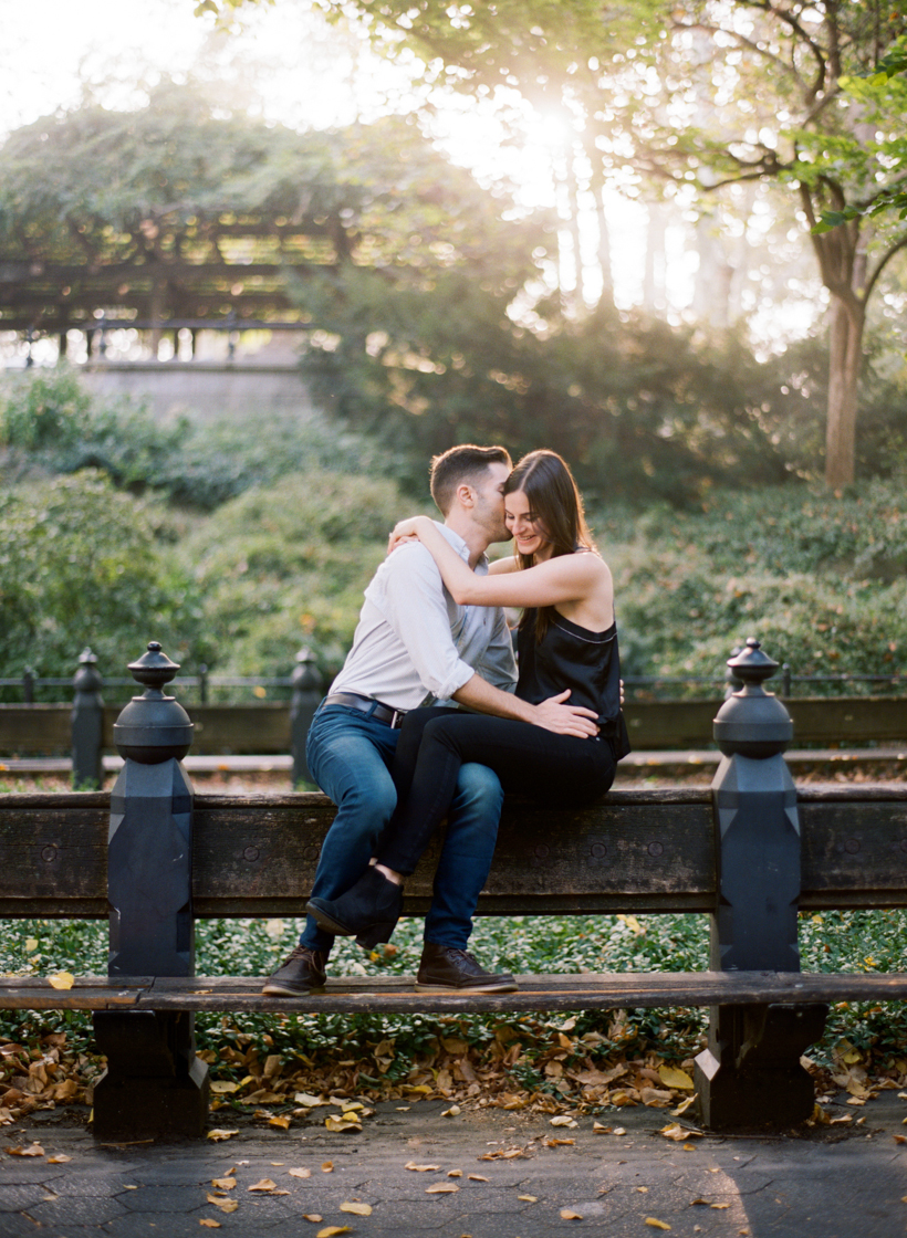 Central Park Engagement Session on Film - Photo by Kat Braman