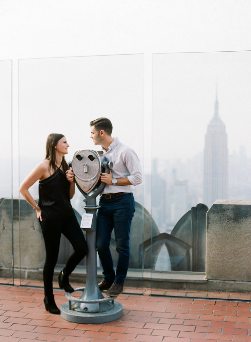 Engagement Session at 30 Rock - Photo by Kat Braman
