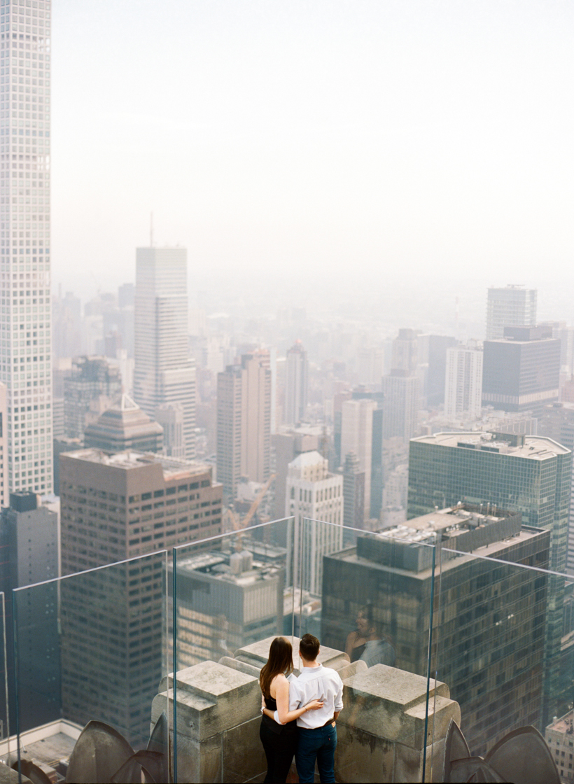 Top of the Rock Engagement Session - Photo by Kat Braman