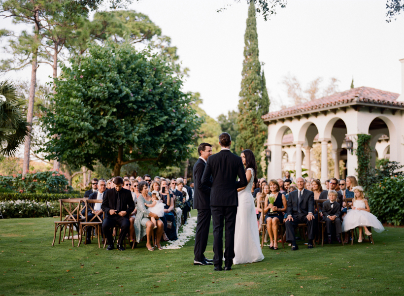 Garden ceremony location at this beautiful estate in The Bear's Club.  Photo by Kat Braman