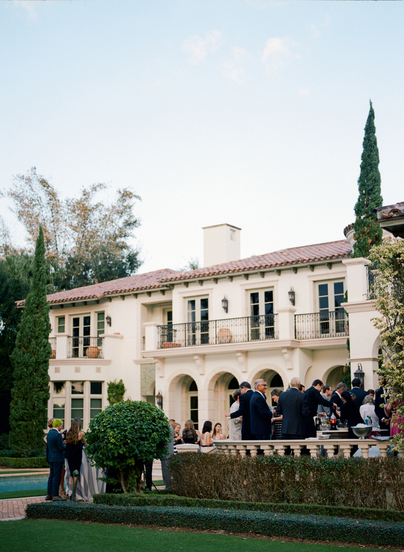 The most beautiful cocktail hour at Palm Beach estate - photo by Kat Braman