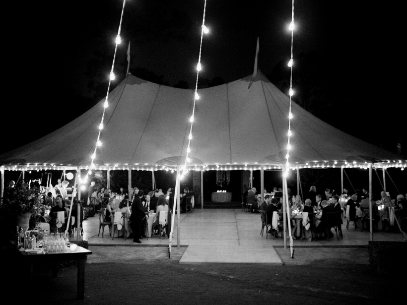 Sperry Tent wedding reception in Jupiter, Florida - photo by Kat Braman
