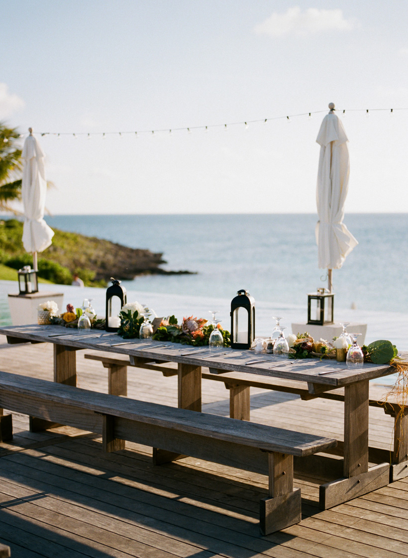 Wedding Reception at The Cove Eleuthera, Bahamas - photo by Kat Braman